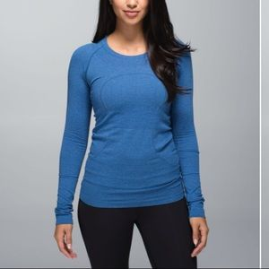 Lululemon swifts tech long sleeve - heathered blue